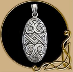 Pendant Viking War Shield from Silver
